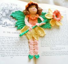 I often get asked where my ideas come from for my various bookmarks. I was looking through my spring garden . Crochet Amigurumi, Crochet Art, Thread Crochet, Crochet Designs, Crochet Patterns, Crochet Bookmarks, Spring Garden, Fantasy Creatures, Daffodils
