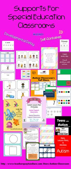 Teaching materials to get hold of to prepare for next year. Special Education supplies.  #specialeducation #teachersfollowteachers http://www.pinterest.com/autismclassroom/special-education-community-pinterest-board/