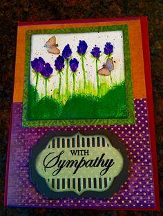 Clover flowers on handmade sympathy card