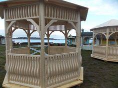 Diese Pavillons zieren ab 2015 das Strandareal.
