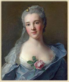 Manon Balletti, by Jean-Marc Nattier.....The most beautiful portrait of the Rococo Era