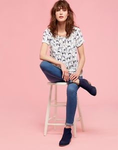 Hannah Cream Whippet Woven Shell Top | Joules US