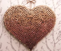 Show your cottage some love with this heart-shaped cork board