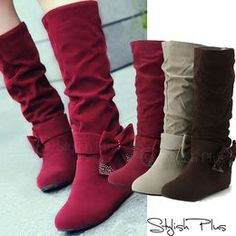 Winter Bow Boots