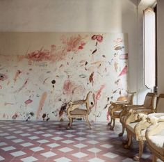 Cy Twombly's house in Rome, photographed by Horst P Horst for Vogue in 1968