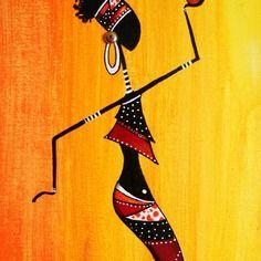 """Tableau d'une """"rasta'la mode"""" peinture acrylique"""