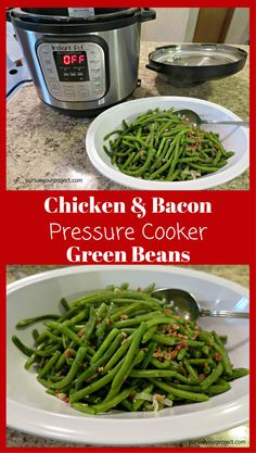 Kick up the flavor of green beans with this pressure cooker recipe. via @pursueproject