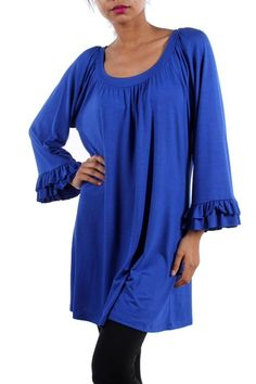 Kelly Brett Boutique: Women's Online Clothing Boutique - Plus Size Southern Tunic Royal, $32.00 (http://www.kellybrettboutique.com/plus-size-southern-tunic-royal/)