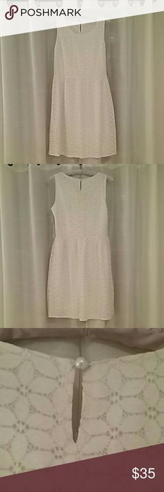 Beautiful  cream dress, new Lovely summer dress, never worn.  Lace, with silky lining. Dainty and feminine. Hem and Thread Dresses