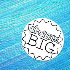 Dream Big in Random Shades of Blue by Melissa and Raymond on Etsy