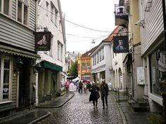 The streets of Bergen, Norway
