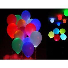 Lot de 30 Ballons LED Anniversaire Mariage Bapteme Lumineux COULEUR(couleur…