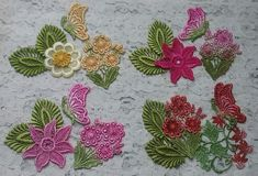 Venise Lace Crqazy Quilt Hand Dyed Applique by RavioleeDreams