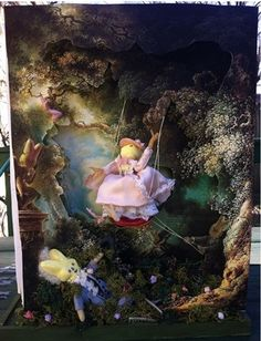 """A play on Jean-Honore Fragonard's iconic Rococo painting, """"The Happy Accidents of the Swing (circa 1767)."""""""