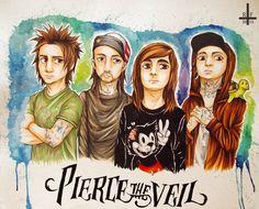 ~ Pierce The Veil ~ by Kagoe.deviantart.com on @deviantART