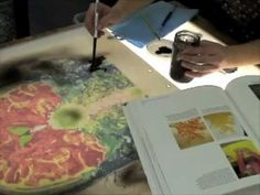 Lithography Using the Century Plate Artist Lauren Bennett shows how to make a 16 color lithograph using just one century plate