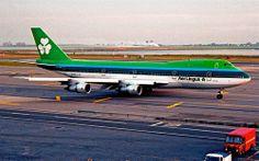 "Aer Lingus Boeing 747-148 EI-ASJ ""St. Columba / Colmcille"" at New York-JFK, circa 1990s. (Photo via Flickr: RedRipper24)"