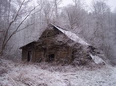 Old cabin/barn snow