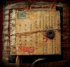 Art Propelled: FRAGMENTS, SCRAPS AND REMNANTS, Seth Apter, Asian / Oriental art journal diary sketchbook inspiration.