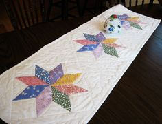 Quilted table runner  thirties reproduction by KellettKreations