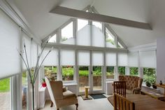 Electric Duette Pleated Triangular Gable Blinds by Grand Design Blinds