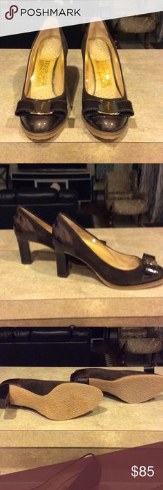 Salvatore Ferragamo shoes Brown suede heels Salvatore Ferragamo Shoes Heels