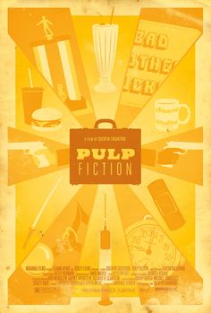 Pulp Fiction (1994) ~ Minimal Movie Poster by Adam Rabalais