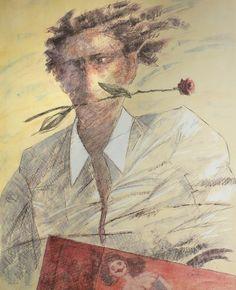 L'uomo e la rosa, Giampaolo Talani, http://www.galleria-galp.it/shop/index.php/artisti/giampaolo-talani/l-uomo-e-la-rosa.html