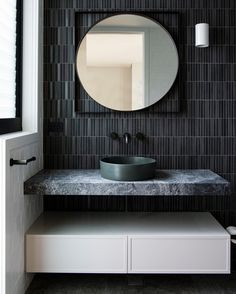 """CONCRETE NATION™ on Instagram: """"Sophisticated Elegance, featuring our Halo Basin in Greenstone.   Interiors by @studio.aem Photography by…"""" Visual Texture, Inside Outside, Laundry In Bathroom, Beautiful Bathrooms, Bathroom Inspiration, Powder Room, Basin, Furniture Design, Interior Design"""