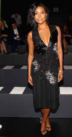 NEW YORK, NY - SEPTEMBER 13:  Actress Gabrielle Union attends Prabal Gurung Spring 2016 during New York Fashion Week: The Shows  at The Arc, Skylight at Moynihan Station on September 13, 2015 in New York City.  (Photo by Astrid Stawiarz/Getty Images for NYFW: The Shows)