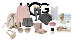 """UGG"" by selmazbanic ❤ liked on Polyvore featuring UGG Australia, Gipsy, UGG, MANGO, The North Face and Lime Crime"
