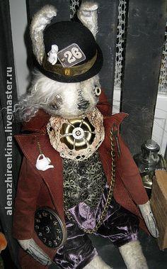 Купить БЕЛЫЙ КРОЛИК STEAMPUNK - белый, белый кролик, алиса, заяц, кролик, steampunk