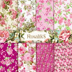 Ophelia Floral Shabby Chic 85x11 Floral Patterns by rosaliks