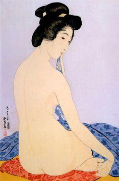 hanga gallery . . . torii gallery: Woman After Bath by Hashiguchi Goyo