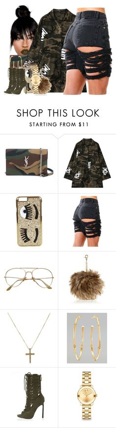 """""""Kiss it better"""" by thaofficialtrillqueen ❤ liked on Polyvore featuring Yves Saint Laurent, Chicnova Fashion, Chiara Ferragni, River Island, John Hardy and Movado"""