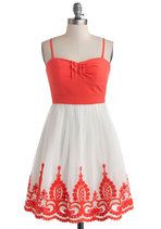 Coral Arrangement Dress | Mod Retro Vintage Dresses | ModCloth.com