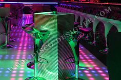 Disco Club, Disco Ball, Light Table, Night Club, Retro Fashion, Custom Design, Furniture Design, Relief, Html