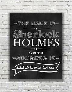 BBC's SHERLOCK Quote - 221B Baker Street