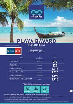 Super Oferta Playa Bávaro Octubre Cadena Riu e Iberostar - http://zocotours.com/super-oferta-playa-bavaro-octubre-cadena-riu-e-iberostar/