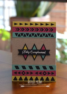 Tarjeta tribal cumpleaños hobby de papel 1 Love Gifts, Diy Gifts, Birthday Gifts, Happy Birthday, Diy And Crafts, Paper Crafts, Bday Cards, Copics, Creative Gifts