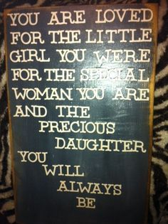 wooden custom daughter's saying by Shooflysigns on Etsy, $29.00