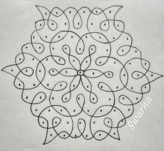 Rangoli Designs Simple Diwali, Free Hand Rangoli Design, Small Rangoli Design, Rangoli Designs With Dots, Mehndi Art Designs, Easy Rangoli, Beautiful Rangoli Designs, Rangoli Borders, Rangoli Border Designs