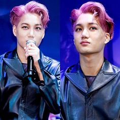 160608 KAI @ EX'ACT Album Press Conference  Oh Kai looks amazing with pink hair❤ __ #kai #카이 #엑소 #kimjongin #exo  #exol#exovideo #kai_tv