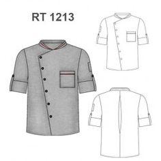 CHAQUETA CHEF RT 1213 Chef Dress, Chef Shirts, Restaurant Uniforms, Sewing Coat, Clothing Sketches, Uniform Design, Fashion Design Sketches, Chef Jackets, Menswear