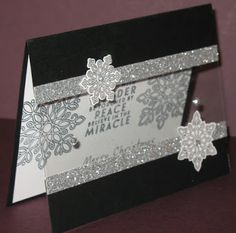 Snowflakes are Falling | Denise Foor Studio PA Flurry of Wishes Stampin' Up! Card created by Miriam Peck