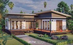 In this video, we will show you modern L-shaped house plans collection from TM Designs! A house construction company based in Thailand! Home Modern, Modern House Plans, Small House Plans, Modern Asian, Open Floor House Plans, Porch House Plans, Floor Plans, L Shaped House Plans, L Shaped Tiny House