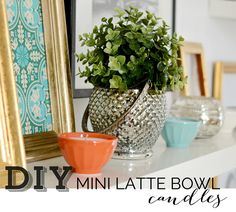 DIY mini latte bowl candles @
