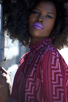 Love the fro & lips...