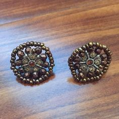 Urban Outfitters Earrings Brown jeweled earrings Urban Outfitters Jewelry Earrings