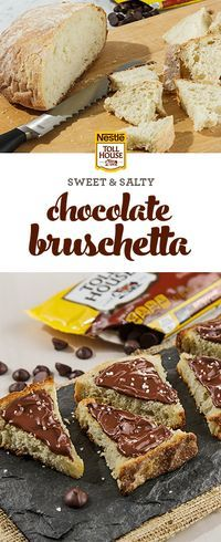 This dessert-inspired twist on a classic will leave your guests begging for more. When you melt rich NESTLE® TOLL HOUSE® Dark Chocolate Morsels with extra virgin olive oil and coarse sea salt, the result is a luxurious dessert bruschetta that's perfect for spreading over slices of rustic bread. In just two easy steps, you can make this sweet and salty chocolate dish for all your upcoming parties. Get the recipe now.